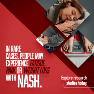 Nash symptoms, clinical research